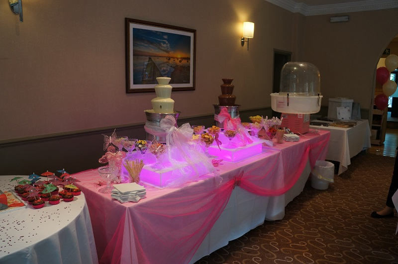 hot pink set up yummy chocolate ... & party food | Chocolate Fountains and more | Page 2